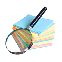 Legal Information Magnifying Glass Post-Its